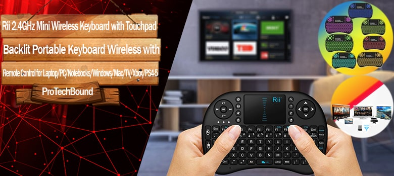 Best Portable Keyboard Wireless with Remote Control for Laptop/PC/Notebooks/Windows/Mac/TV/Xbox/PS3