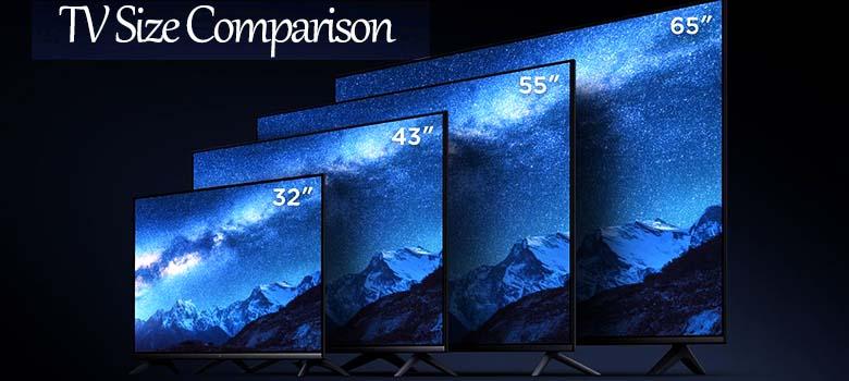 tv screen size comparison